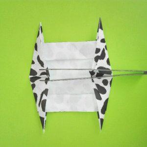 折り紙の折り方+ウシ 12