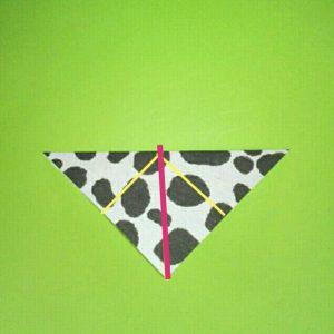 折り紙の折り方+ウシ 15