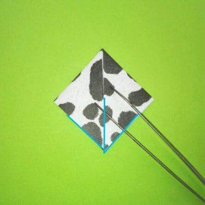 折り紙の折り方+ウシ 16