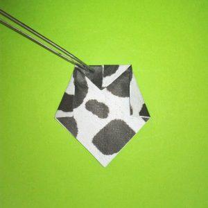折り紙の折り方+ウシ 18