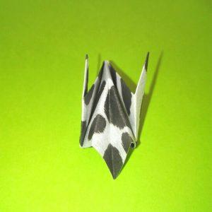 折り紙の折り方+ウシ 21-1