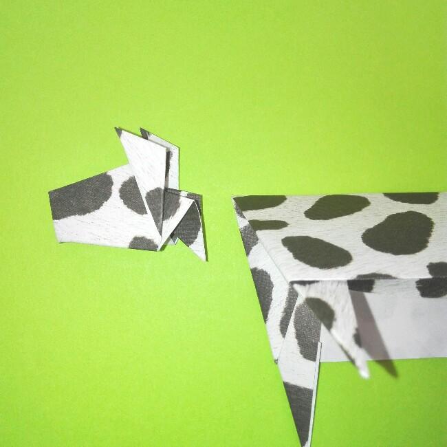 折り紙の折り方+ウシ 21-2