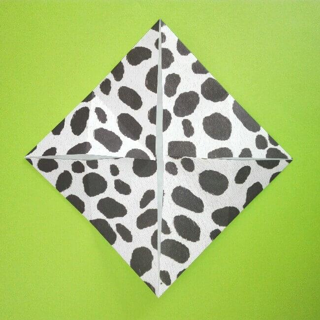 折り紙の折り方+ウシ 5
