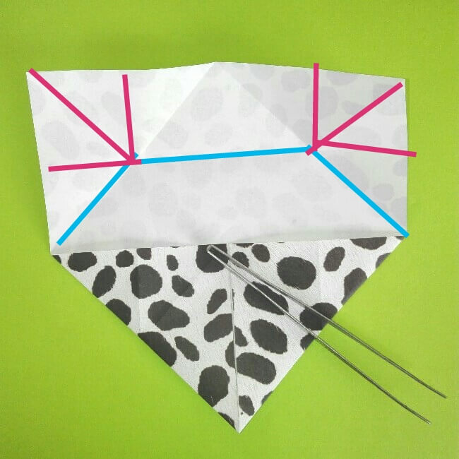 折り紙の折り方+ウシ 6-1