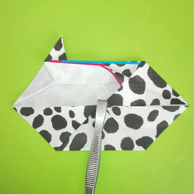 折り紙の折り方+ウシ 8-1