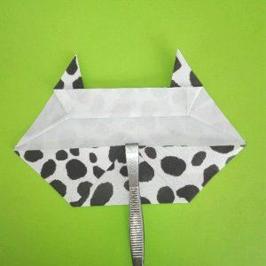 折り紙の折り方+ウシ 8-2