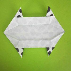 折り紙の折り方+ウシ 9