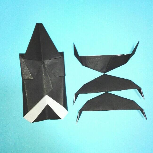 折り紙の折り方+カブトムシ(平面)2枚で簡単 15