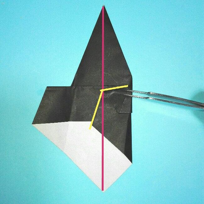 折り紙の折り方+カブトムシ(平面)2枚で簡単 5