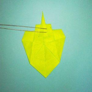 折り紙の折り方+コガネムシ 16