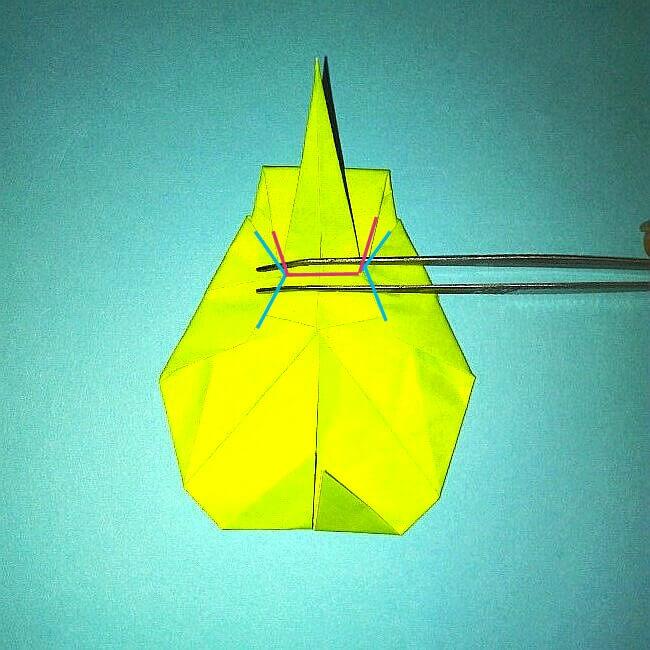 折り紙の折り方+コガネムシ 17-2