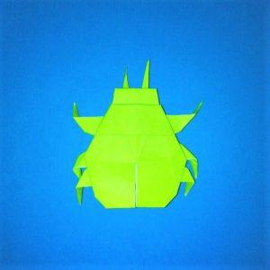 折り紙の折り方+コガネムシ 26