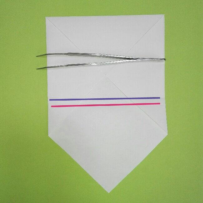 折り紙の折り方+ゴミ収集車(立体) 上3-2