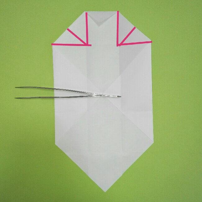 折り紙の折り方+ゴミ収集車(立体) 上7-1