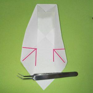 折り紙の折り方+ゴミ収集車(立体) 上7-2