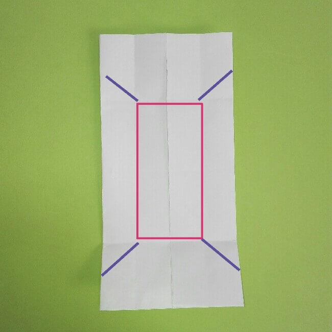 折り紙の折り方+ゴミ収集車(立体) 下4-1