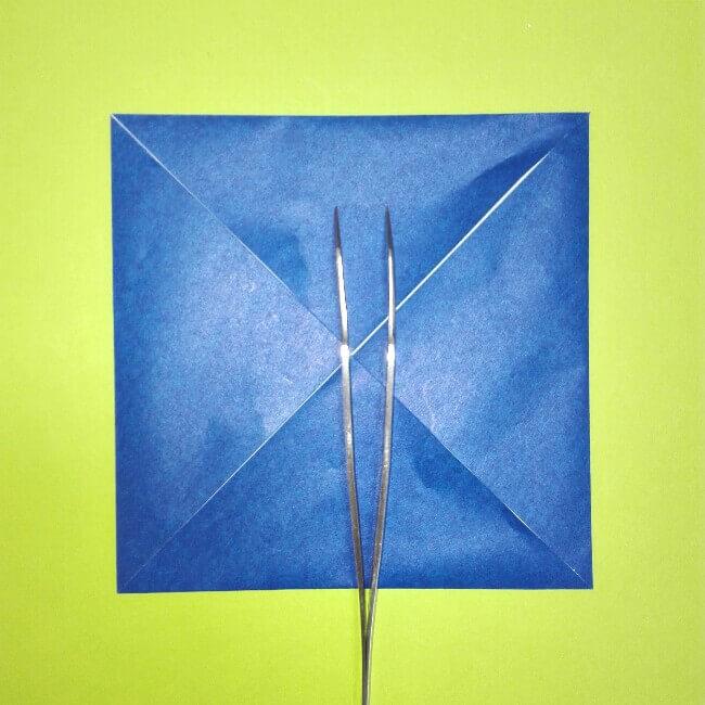 折り紙の折り方+ゴミ収集車(立体) 後部2