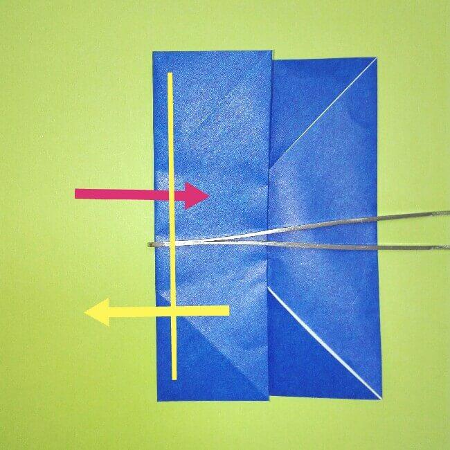 折り紙の折り方+ゴミ収集車(立体) 後部4-1