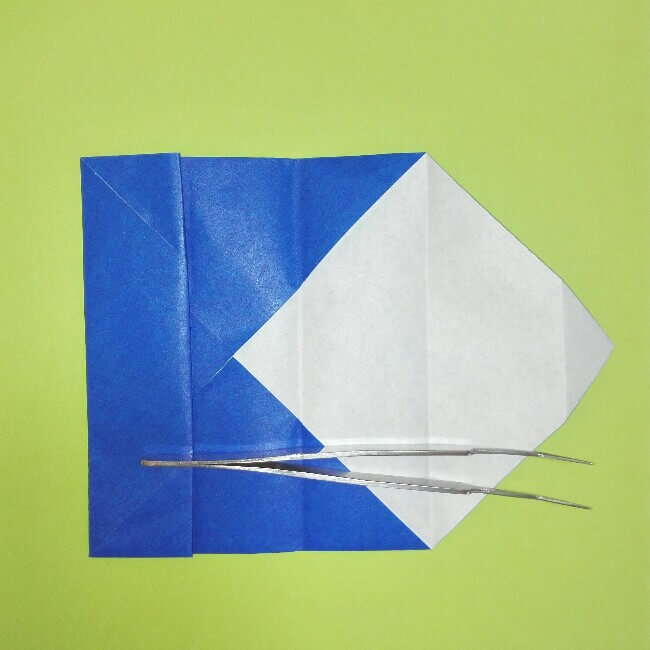 折り紙の折り方+ゴミ収集車(立体) 後部4-2
