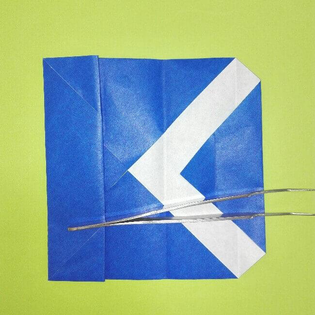 折り紙の折り方+ゴミ収集車(立体) 後部5