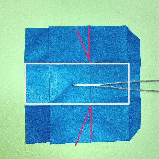 折り紙の折り方+ゴミ収集車(立体) 後部6