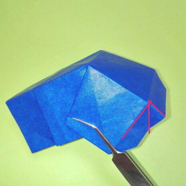 折り紙の折り方+ゴミ収集車(立体) 後部7