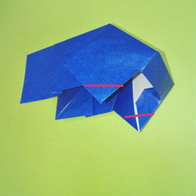 折り紙の折り方+ゴミ収集車(立体) 後部8-1