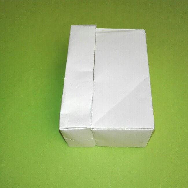 折り紙の折り方+ゴミ収集車(立体) 組立3