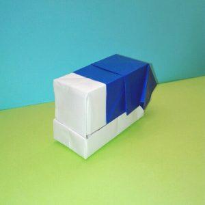 折り紙の折り方+ゴミ収集車(立体) 組立4