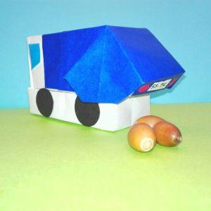 折り紙の折り方+ゴミ収集車(立体) 組立5-2