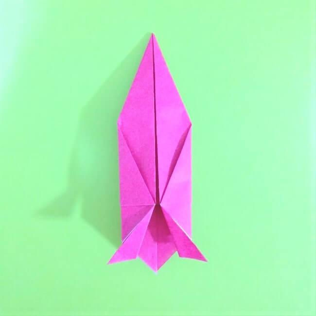 折り紙の折り方+ロケット10-1