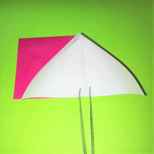 折り紙の折り方+ロケット4-1