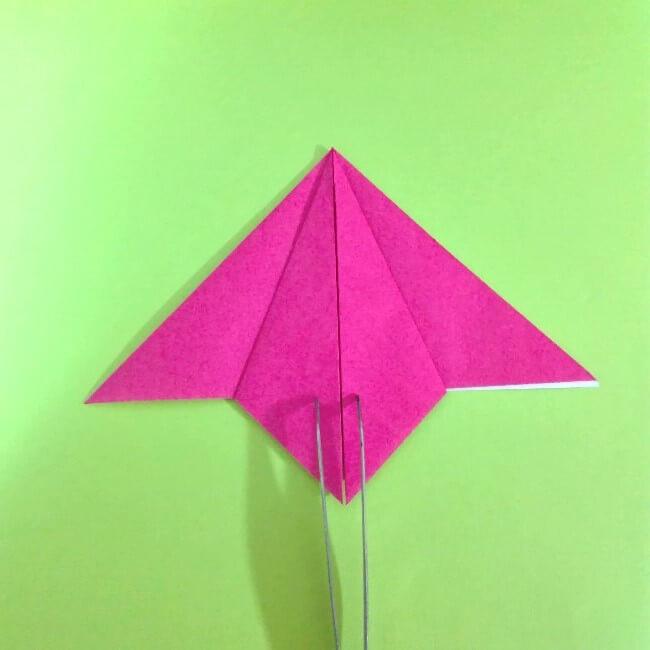 折り紙の折り方+ロケット6-2