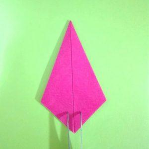 折り紙の折り方+ロケット7
