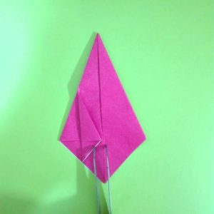 折り紙の折り方+ロケット8-1
