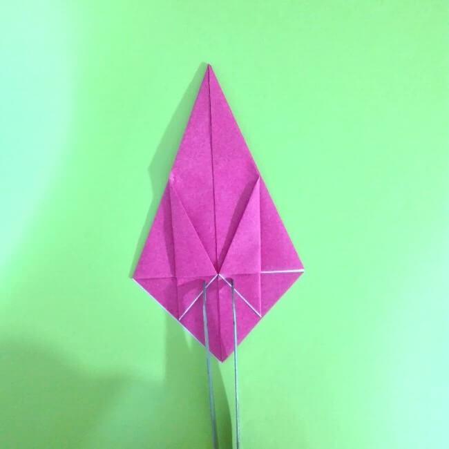 折り紙の折り方+ロケット8-2
