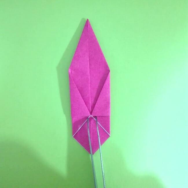 折り紙の折り方+ロケット9