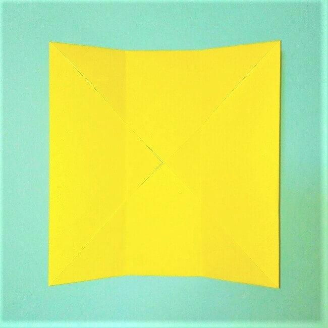 折り紙の折り方+立体ブルドーザー ブレード3-1