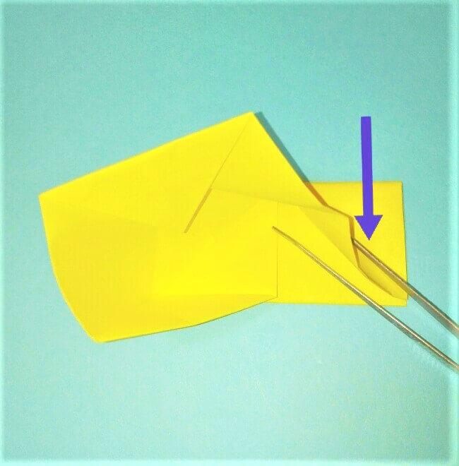 折り紙の折り方+立体ブルドーザー ブレード6-1