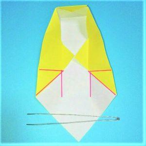 折り紙の折り方+立体ブルドーザー 内 (8-1)