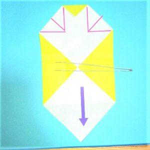折り紙の折り方+立体ブルドーザー 内(7-1)