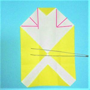 折り紙の折り方+立体ブルドーザー 外8-1