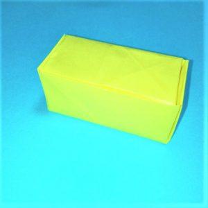 折り紙の折り方+立体ブルドーザー 組み立て‹2