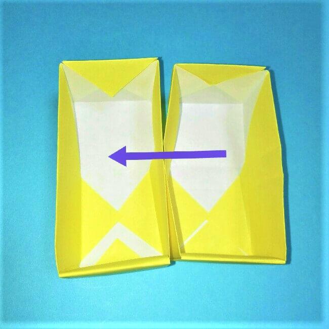 折り紙の折り方+立体ブルドーザー 組み立て1