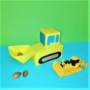 折り紙の折り方+立体ブルドーザー 組み立て4