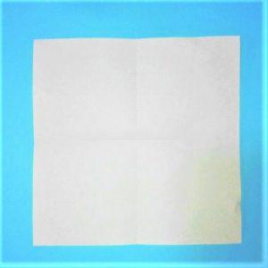 折り紙の折り方+立体ブルドーザー 運転席1