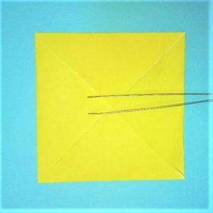 折り紙の折り方+立体ブルドーザー 運転席2
