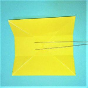 折り紙の折り方+立体ブルドーザー 運転席3-1