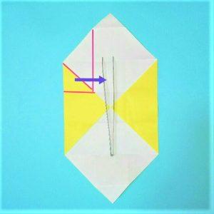 折り紙の折り方+立体ブルドーザー 運転席4