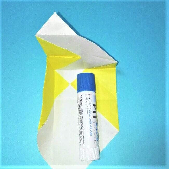 折り紙の折り方+立体ブルドーザー 運転席5-1